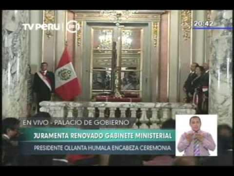 Presidente Humala tomó juramento al Gabinete Ministerial encabezado por René Cornejo