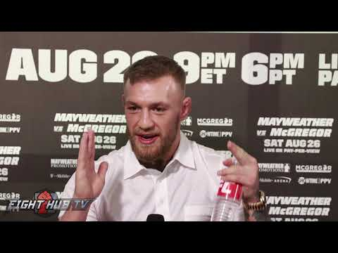 Conor McGregor recites dope Joe Frazier poem on Mayweather