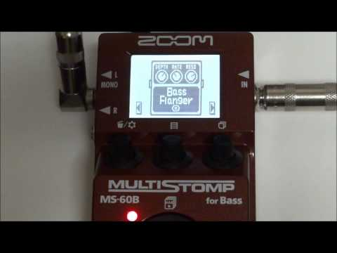 ZOOM MS-60B MULTISTOMP for Bass Patch 1 to 10 TEST