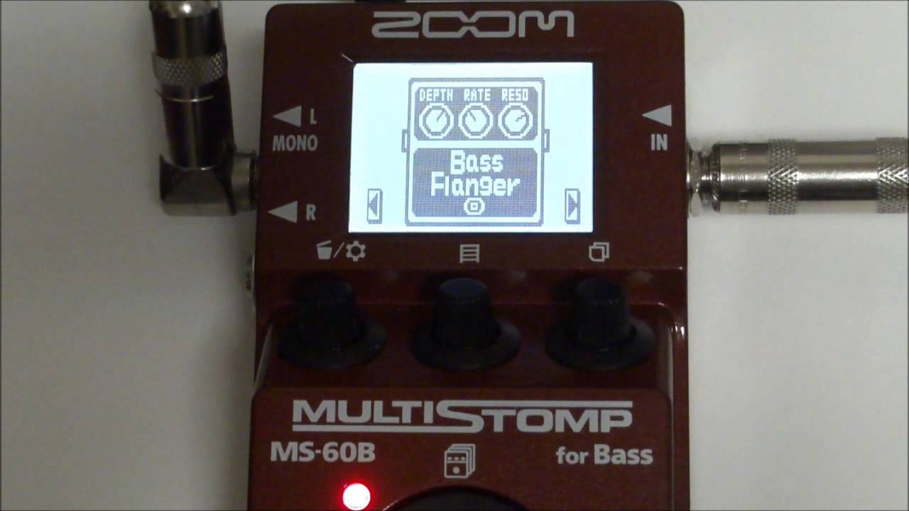 zoom ms 60b multistomp for bass patch 1 to 10 test youtube. Black Bedroom Furniture Sets. Home Design Ideas