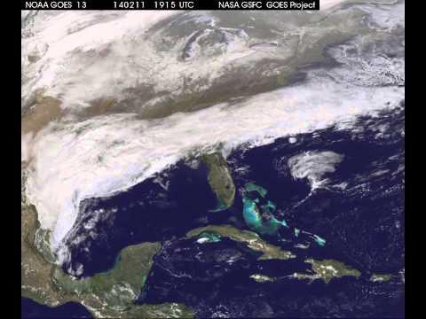 GOES Satellite Video of Feb. 12, 2014 Snowstorm