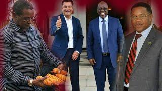 Mstaafu Rais KIKWETE ( CCM ) akiwasihi MEMBE na ROSTAM AZIZI kua WATULIVU