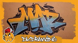 How to draw graffiti letters mad with prismacolors