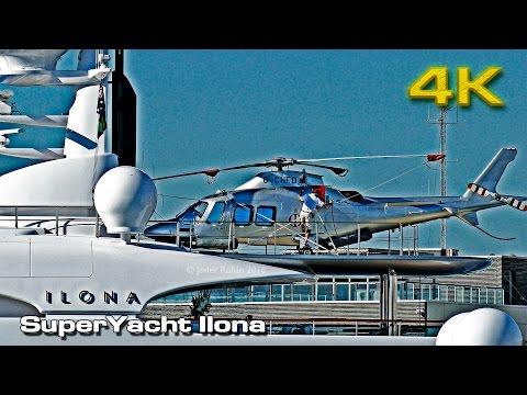 Super Yacht Ilona (Heli on board) [4K]