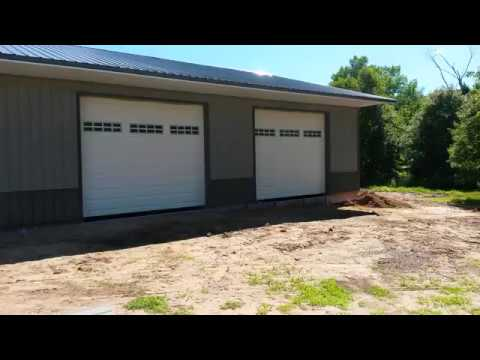 Structural Buildings 40 x 80 Pole Barn Finish Quality  Part 2