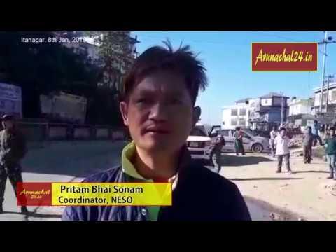 Arunachal Pradesh bandh called by NESO against Citizenship AmendmentBill 2016