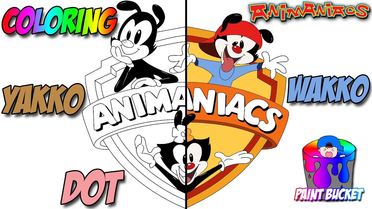 animaniacs yakko wakko and dot coloring pages kids wb cartoon