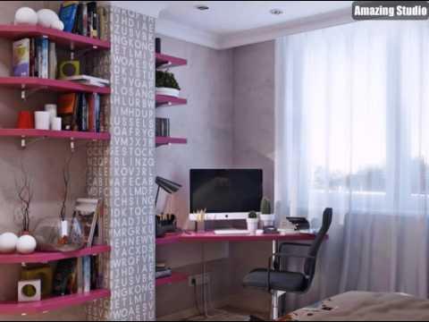 A Rosa Grau Kind Schlafzimmer Schema
