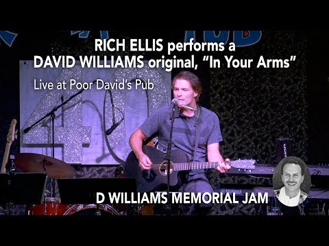 "RICH ELLIS performs ""In Your Arms"", a David Williams original song, at the D Williams Memorial Jam"