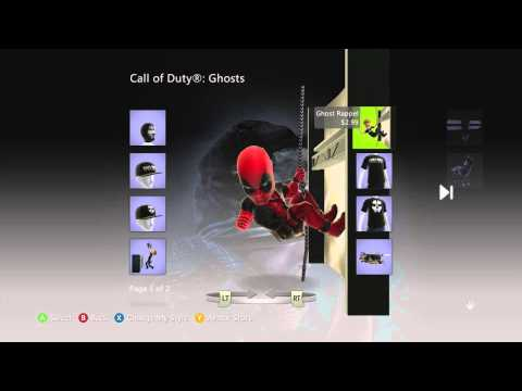 Call Of Duty: Ghosts Xbox Live Marketplace Avatar Items