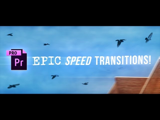SICK Premiere Pro Speed Ramp Transitions Tutorial! (How to Whip Pan & Time Remapping Whoosh Effects)