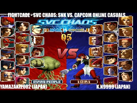[Fightcade HD] - SvC Chaos: SNK vs. Capcom Online Casuals - Yamazaki2002 (Japan) vs. K.N9999 (Japan)