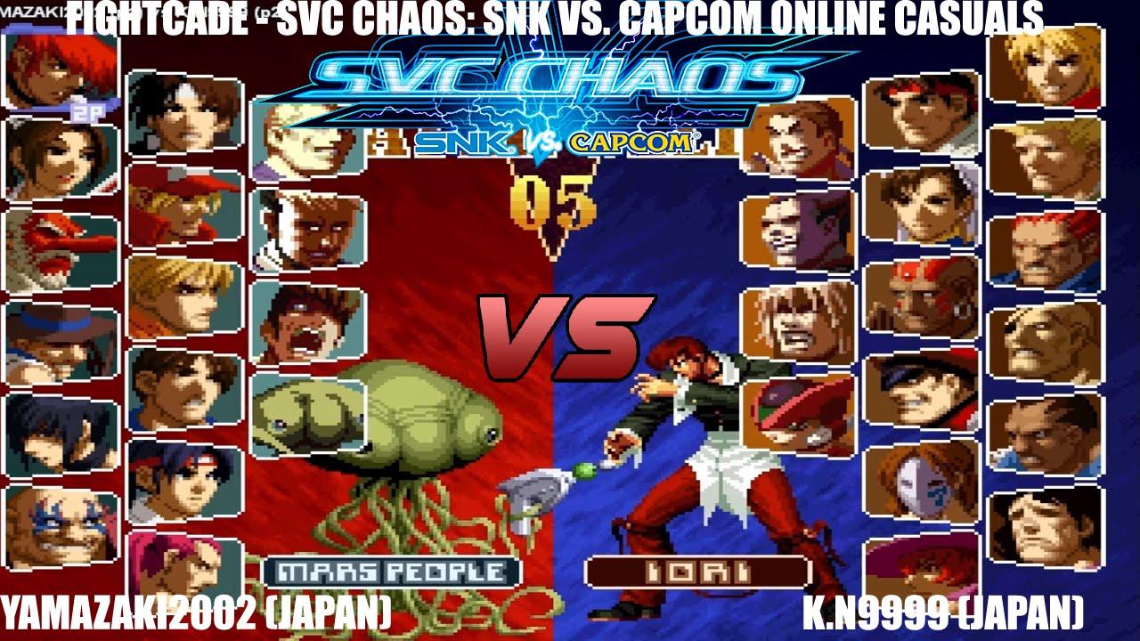 [Fightcade HD] - SvC Chaos: SNK vs. Capcom Online Casuals ...