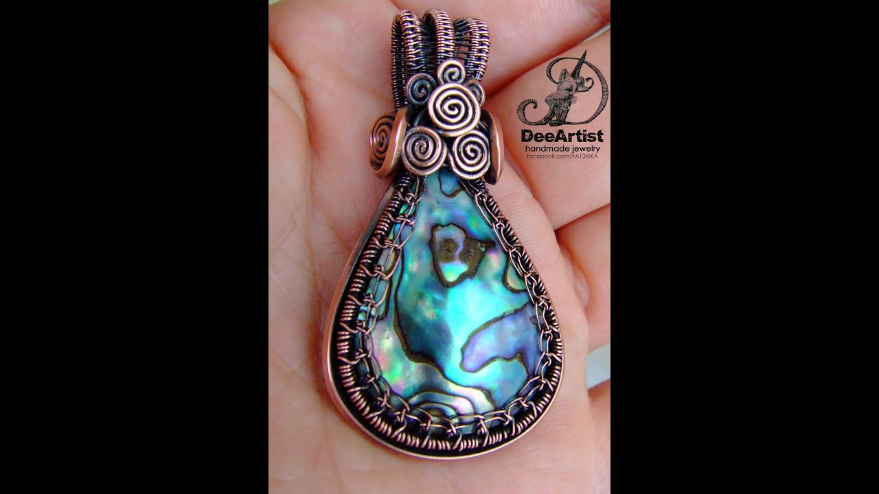 silver file jewelry pendant chain shell celtic original products paua she