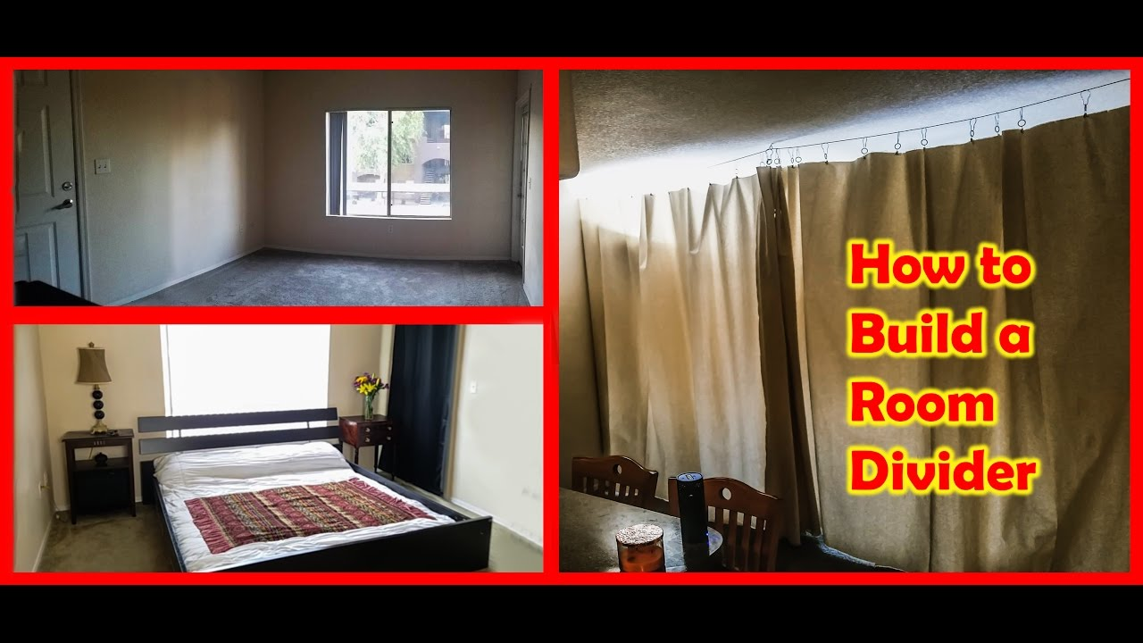 How To Build A Curtain Room Divider Tiny Home Living YouTube