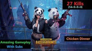 "[Hindi] PUBG Mobile | ""27 Kills"" In Squad Winner Winner Chicken Dinner"