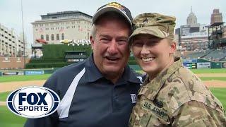 U.S. Army member surprises family at Detroit Tigers game