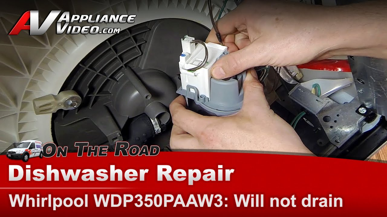 Whirlpool Dishwasher Not Draining Pump Drain Hose Repair