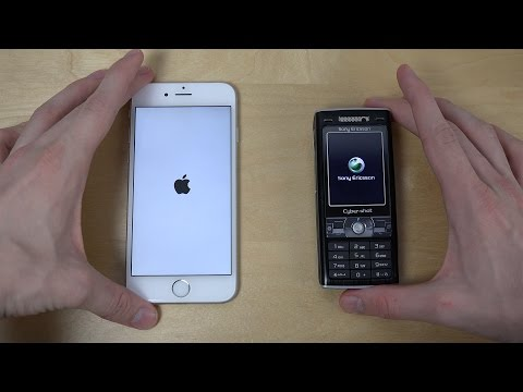 iPhone 6 vs. Sony Ericsson K800i - Which Is Faster? (4K)