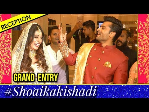 Dipika Kakkar, Shoaib Ibrahim Grand Dance Entry At Reception Party In Mumbai