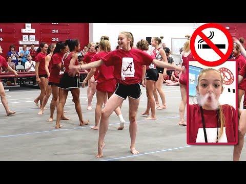 Alabama Gymnastics Camp   No Smoking   Whitney Bjerken