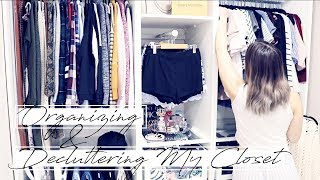 DECLUTTERING & ORGANIZING MY CLOSET! || The Konmari Method