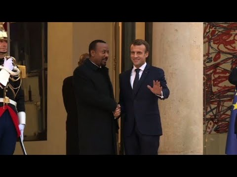 France\'s Macron meets with Ethiopia\'s reformist PM Abiy