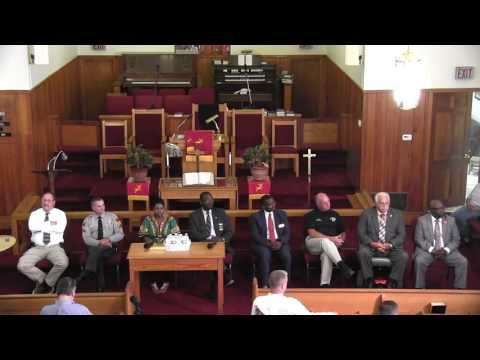 Mt. Zion A.M.E. Church holds Town Hall in Elizabethtown, NC