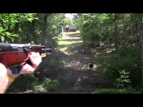 Russian SKS Steel Eating 2  (Hollowpoint  vs FMJ)
