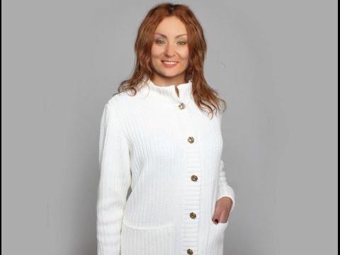 Вязаное классическое пальто