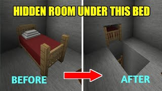 Mini Block Craft Hidden room under the bed #miniblockcraft
