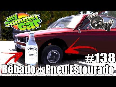 My Summer Car - O PNEU ESTOUROU E EU DIRIGI BÊBADO 😱 #138 ‹ Getaway Driver ›