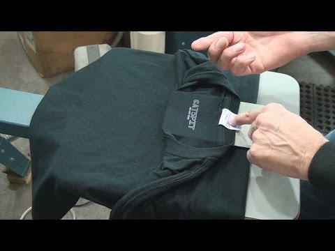 Screen Printing Tee Shirts: How To Tag Print Inside The Collar