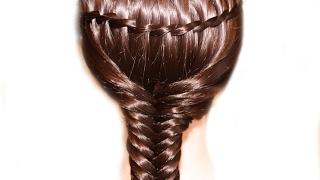 Как заплести косу водопад и рыбий хвост❤Две техники плетения кос ❤Легкие прически на каждый день