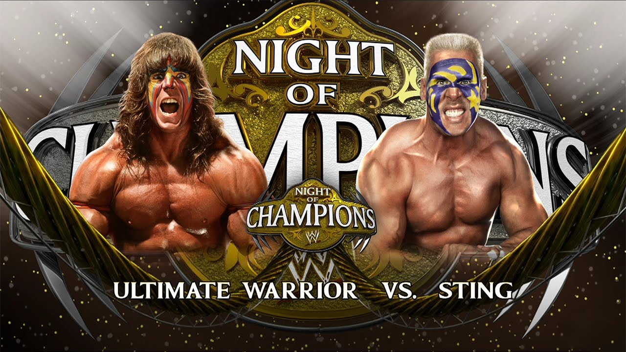 WWE 2K15: Ultimate Warrior vs Sting - YouTube