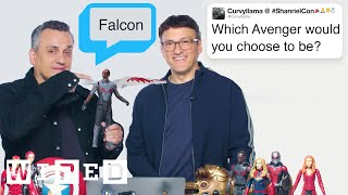 The Russo Brothers Answer Avengers Endgame Questions From Twitter  Tech Support  W RED