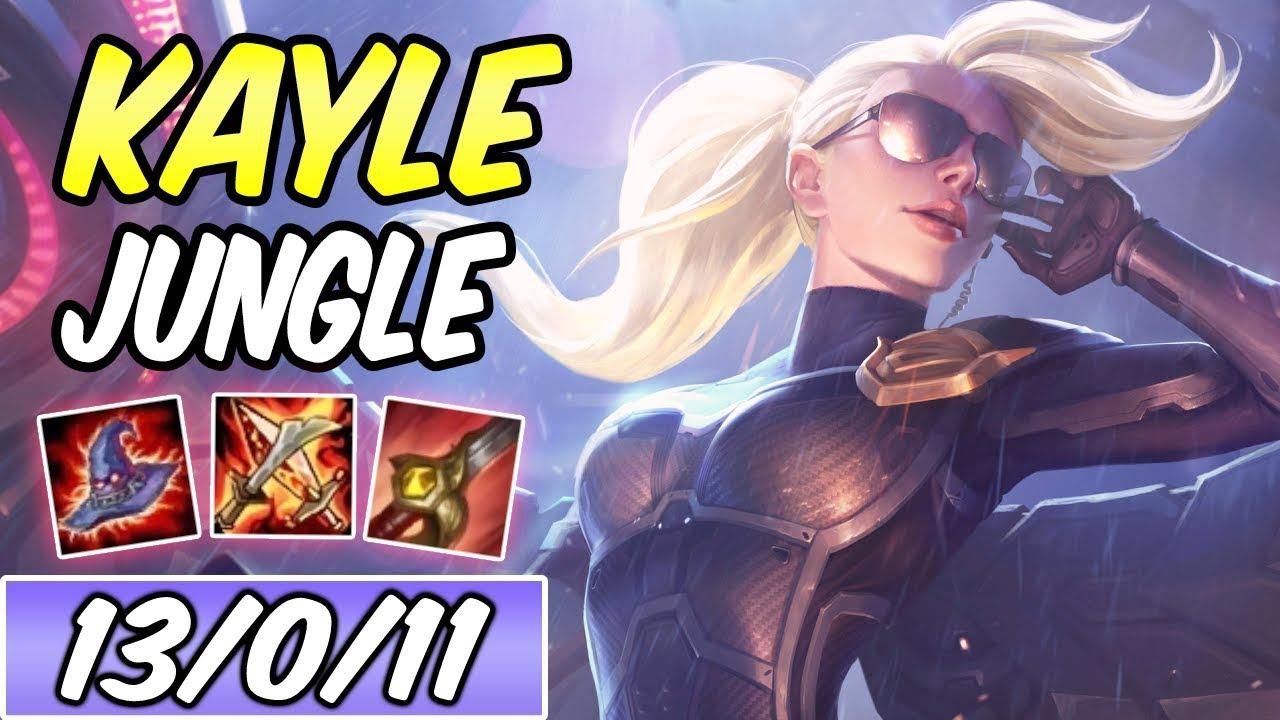 KAYLE JUNGLE | New AP Burst Build & Runes | Diamond Riot Kayle | League of  Legends | S9