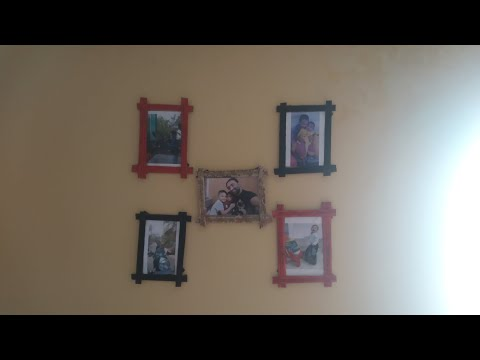 DIY PAPER-CRAFTS/Awesome Photo Frames Out of News Paper Sticks/ Best Out of Waste😍