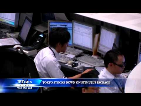 Tokyo Stocks Down On Stimulus Package