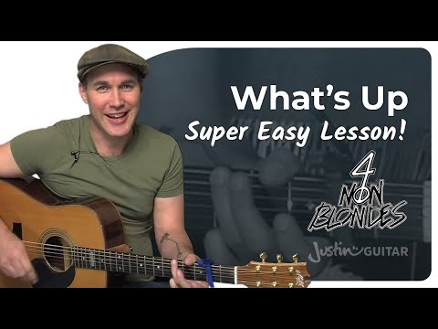 What's Up? - 4 Non Blondes (Easy Song Guitar Lesson BS-308) How To Play