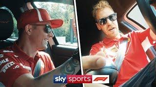 Kimi vs Vettel | Duel driving slalom challenge!