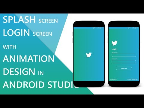 Splash Screen And Login Screen With Animation In Android Studio (With Source Code)