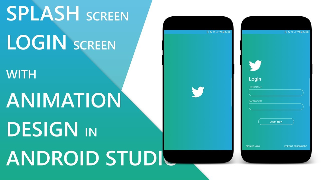Splash Screen and Login Screen with Animation in Android Studio