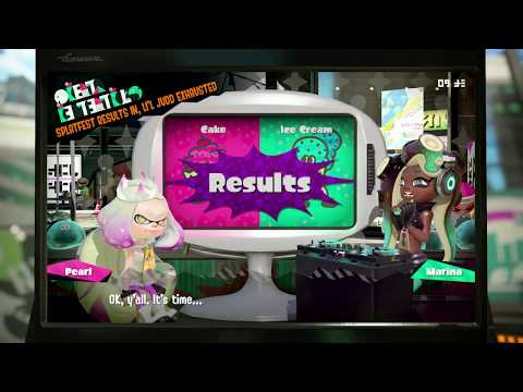 Splatoon 2 - Cake VS Icecream Results - Splatfest World Premiere