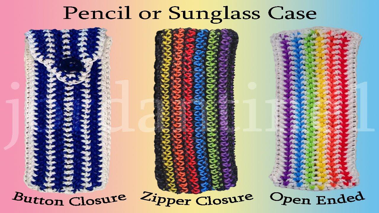 Pencil Glasses Sunglasses Case Loomigurumi Rainbow