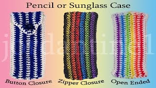 Pencil / Glasses / Sunglasses Case - Loomigurumi - Rainbow Loom - Hook Only - Rubber Band Crochet