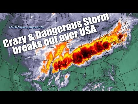 Alert!  Deadly FREAK Storm breaks out across USA Right Now! Major Severe weather!