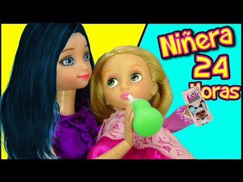 Niñera por un dia de la Bebe Rapunzel | Marinette y Adrien