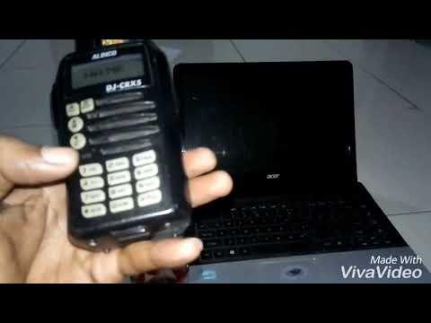 Merubah Display (Tampilan) mode Frekuensi ke mode Nama pada HT Alinco  DJ-CRX5