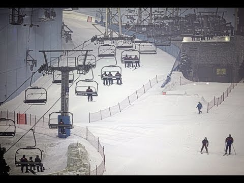 Dubai Artificial Skiing Slope Inside Mall